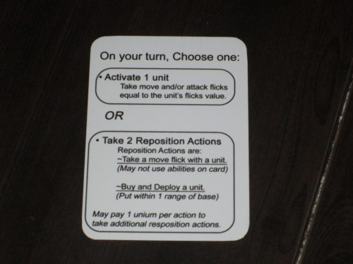 The rules to the game are so simple, as illustrated by this player aid.