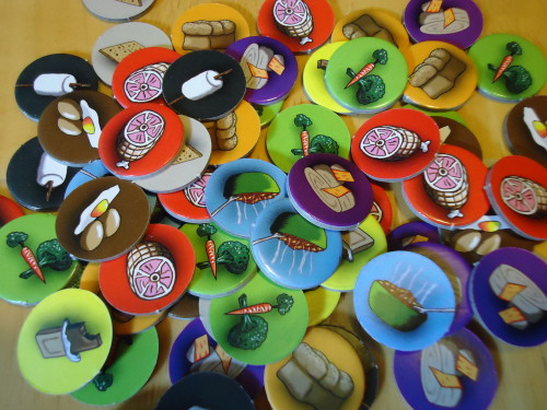 Food scrap tokens