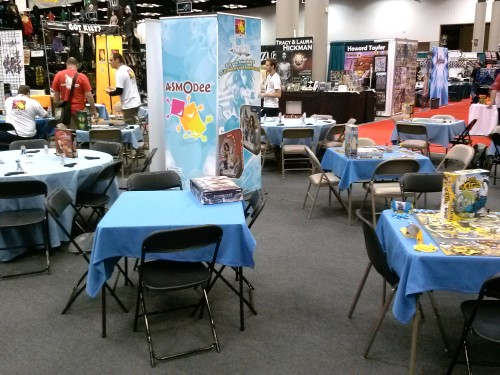 Gen Con 2014 Andrew - Asmodee Booth Empty