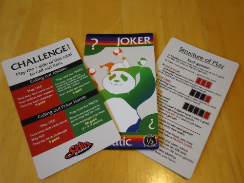 Pandante Challenge, Joker and Player Aid Cards