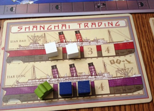 Personal ship boards - each vessel has four cargo holds to carry one load each.