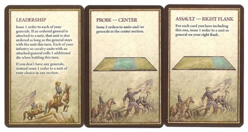 Command and tactics cards in Battle Cry