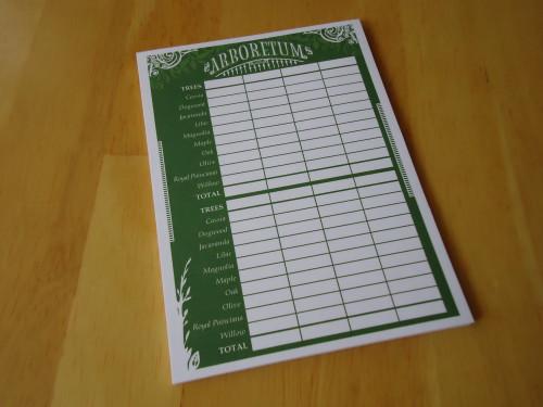 Arboretum - Score Sheet