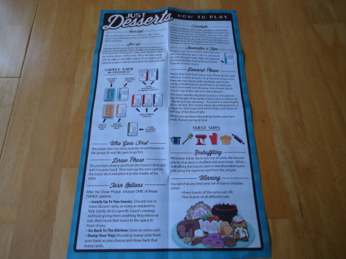 Just Desserts - Rule Sheet