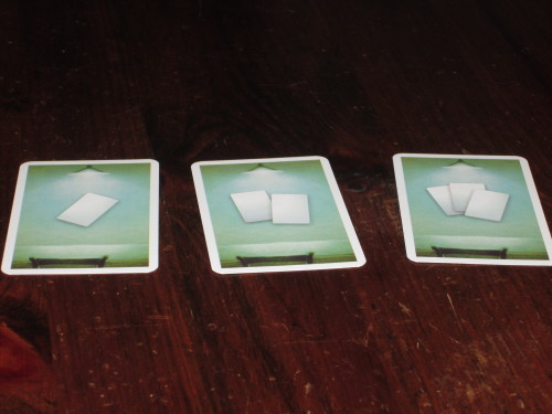 Three special row cards are included for the two-player game. I've not tried this, but I imagine they would work fine.