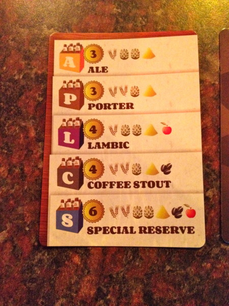 Brew Crafters Reference Card