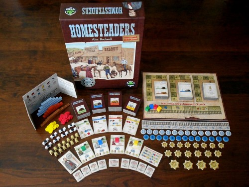 Homesteaders - Box and Components