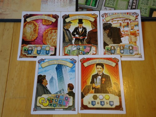 New York 1901 - Bonus Cards