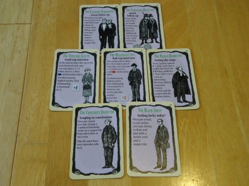 Mystery! Motive for Murder: Detective Cards