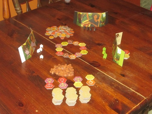 King Chocolate setup for three players.