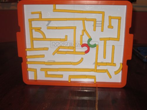 The yellow maze is completely upright, and the magnets show no signs of shifting. Seriously, the components here are great.