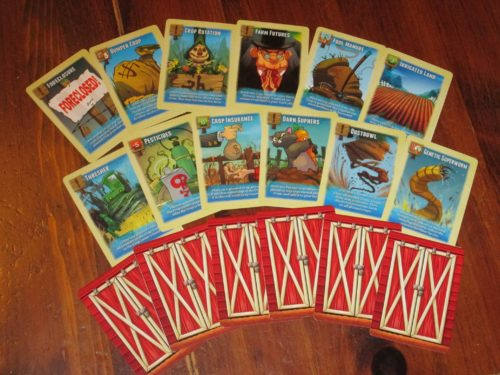 Farmer cards are special actions--all of them good--that allow players to break the rules in certain ways. Play these right, and you are on the path to victory.