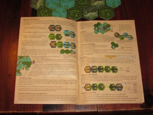 The bulk of the rules for Costa Rica fit on a single spread in the rulebook.
