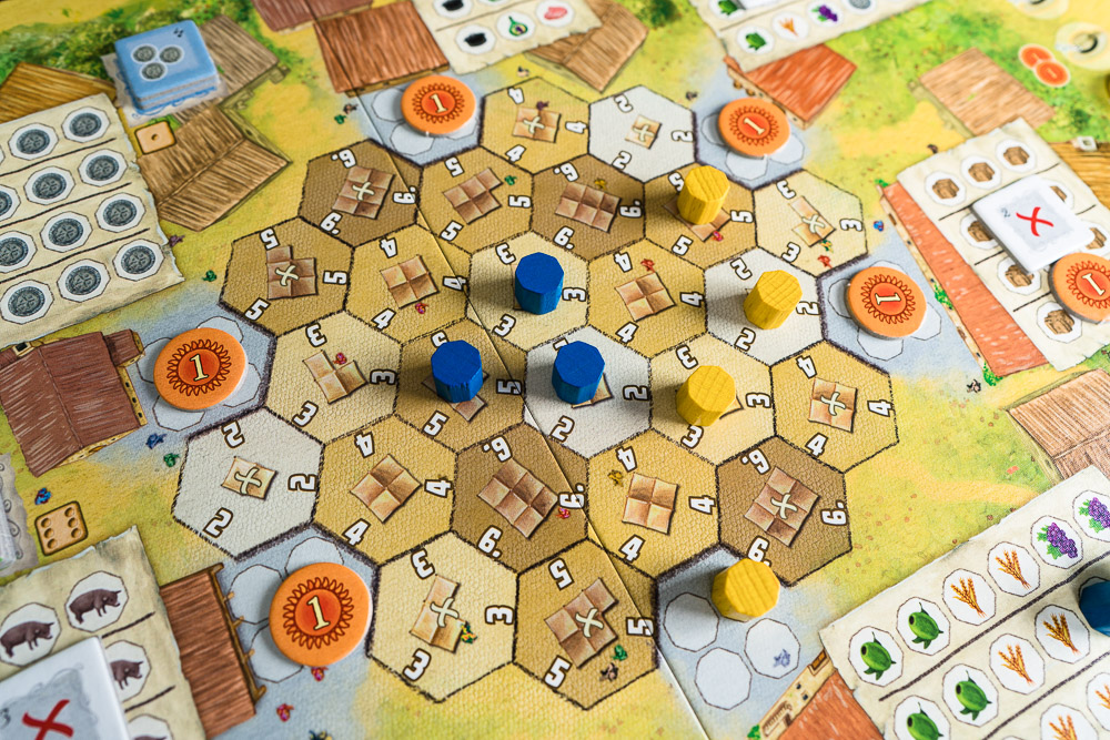 The market area is a mini area control game with a bit of attacking for good measure.
