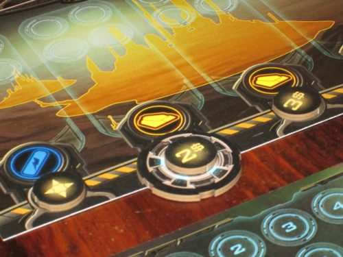 The launch pad token shows other players which segment the active player wants to build.
