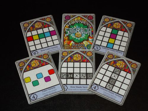 Sagrada - Public Objectives and Winner Card
